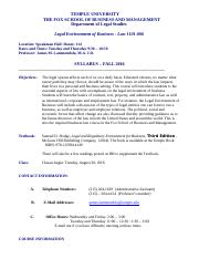 Law 1101 Syllabus Fall 2016