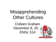 Misapprehending Other Cultures