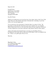 MKT 485 Thank you letter Worker