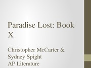 Paradise Lost- Book X
