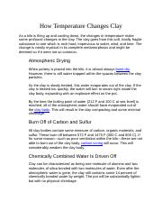 How Temperature Changes Clay.docx