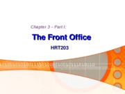 Chapter 3. The Front Office !!! - BB