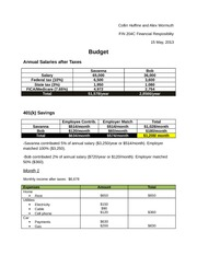 Final responsibility final budget