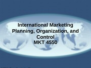 MKT 4550 - 16 - Marketing Planning, Organization, and Control