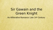 Sir Gawain and the Green Knight part 1