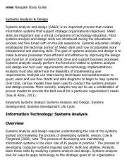 Systems Analysis & Design Research Paper Starter - eNotes