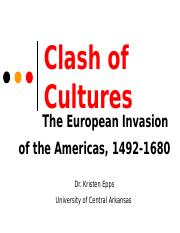 HIST2301, Clash of Cultures (2015 version)