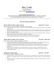Resume 3 - Mary J. Lamb.docx