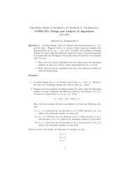 Assignment 08 - Greedy Algorithm (Solution)