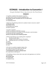 ECON101 Sample MC Questions for Final - Answers.pdf