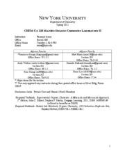 ORGANIC CH 225 : organic chemistry - New York University -