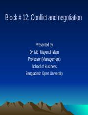Block 12 Conflict and negotiation.pptx