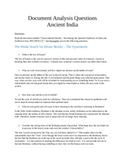 Document Analysis Questions - Ancient India-2