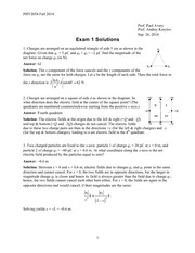 Exam 1 Solution on Physics II