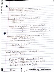 MATH 206 second Derivative And Graphs Notes