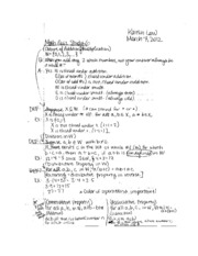 Math 107A Quiz #6 and study guide