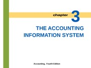 Lecture 3: The Accounting Information System