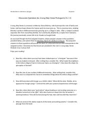 Discussion Questions for A Long Way Home Prologue and Ch. 1-4.docx