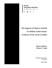 The Impacts of Charter Schools on Student Achievement- Evidence From North Carolina