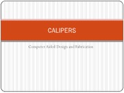1 Lecture - Calipers