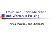Lecture 18-Minorities and Women in Policing