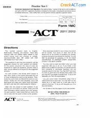 Act Practice Test Form 66f Antarctic Adventure Pdf Course Hero