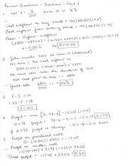 Review Solutions - Part 3 Interest Theory