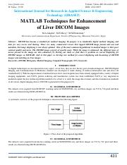 Enhancement of Liver DICOM Images