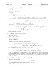 Math 31A Midterm 1 Solutions