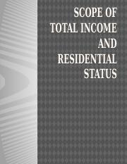 2Scope of total income and residential status.pptx