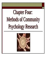 Ch 4 - Methods & Examples of Community Research