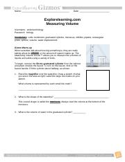 1-d MeasuringVolume activity