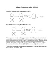 Alkene Oxidations using KMnO4