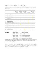 Self-Assessment 3.1 What is My Big 5 Personality Profile.docx