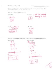 Math 115 Exam 1 Key on Algebra