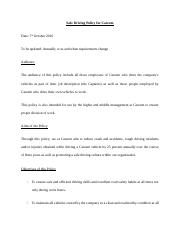 Proceedural writing 2 pager