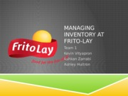 Managing Inventory at Frito Lay