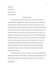The Final Solution Paper