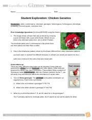 student exploration chicken genetics answer key Activity B Codominant crosses Get the Gizmo ready Click Clear Drag the