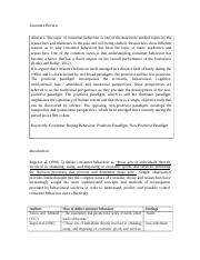 Literature Review-Consumer buying behaviour Melanie.docx