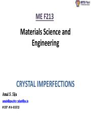 lecture 5 - crystal defects -1