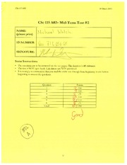 CSC115 Midterm Exam March 2012 Pt 1