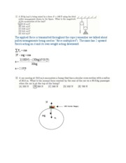 Physics 101 Exam 2