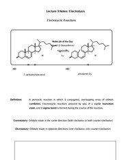 Lecture 9 Notes Electrolysis