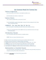 Six Common Rules for Comma Use.docx