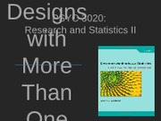 PSYC 3020 - Lecture 05 - Designs with More Than One IV