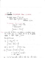 Section 8.4 The fundamental theorem of calculus