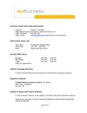 Acct 203-003 Syllabus Fall 2013