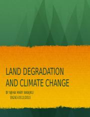 CLIMATE &LAND