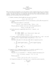 Advanced Calculus for Applications II Practice final Solutions